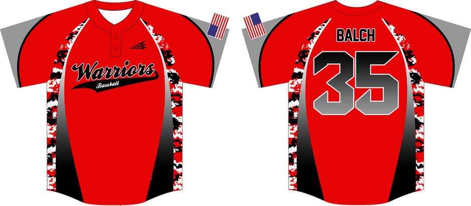 warriors balch custom camo baseball jerseys