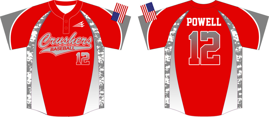crushers custom camo baseball jerseys