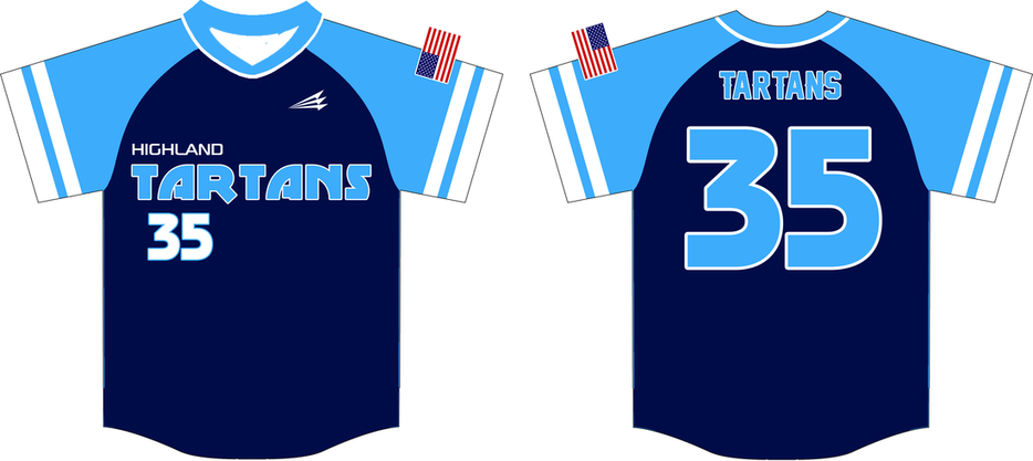 Highland tartans custom throwback baseball jerseys for Custom baseball shirts no minimum