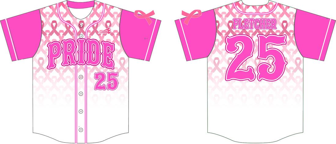Carmichael Pride Custom Breast Cancer Awareness Softball