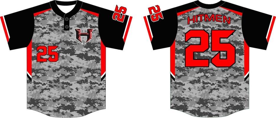 bcb2cc12479 Hitmen Custom Camo Baseball Jerseys - Custom Baseball Jerseys .com ...