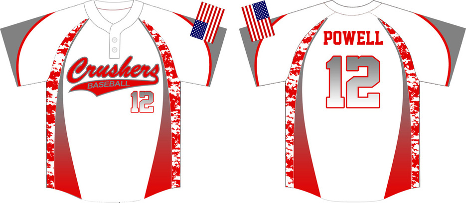 Crushers Custom Camo Baseball Jerseys - Custom Baseball