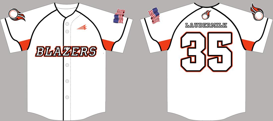 Blazers (Laudermilk) Custom Traditional Baseball Jerseys