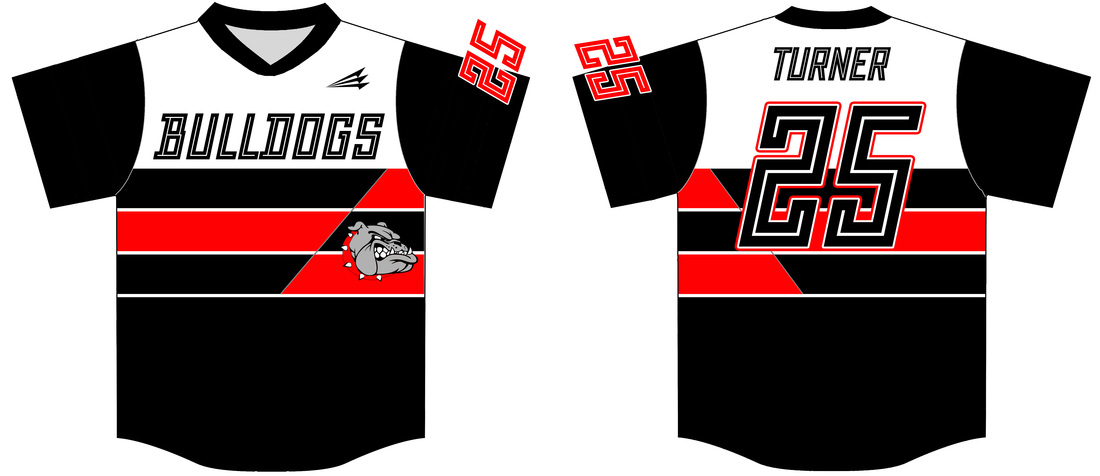 official photos d8c0d eca73 Bulldogs (Turner) Custom Throwback Baseball Jerseys - Custom ...