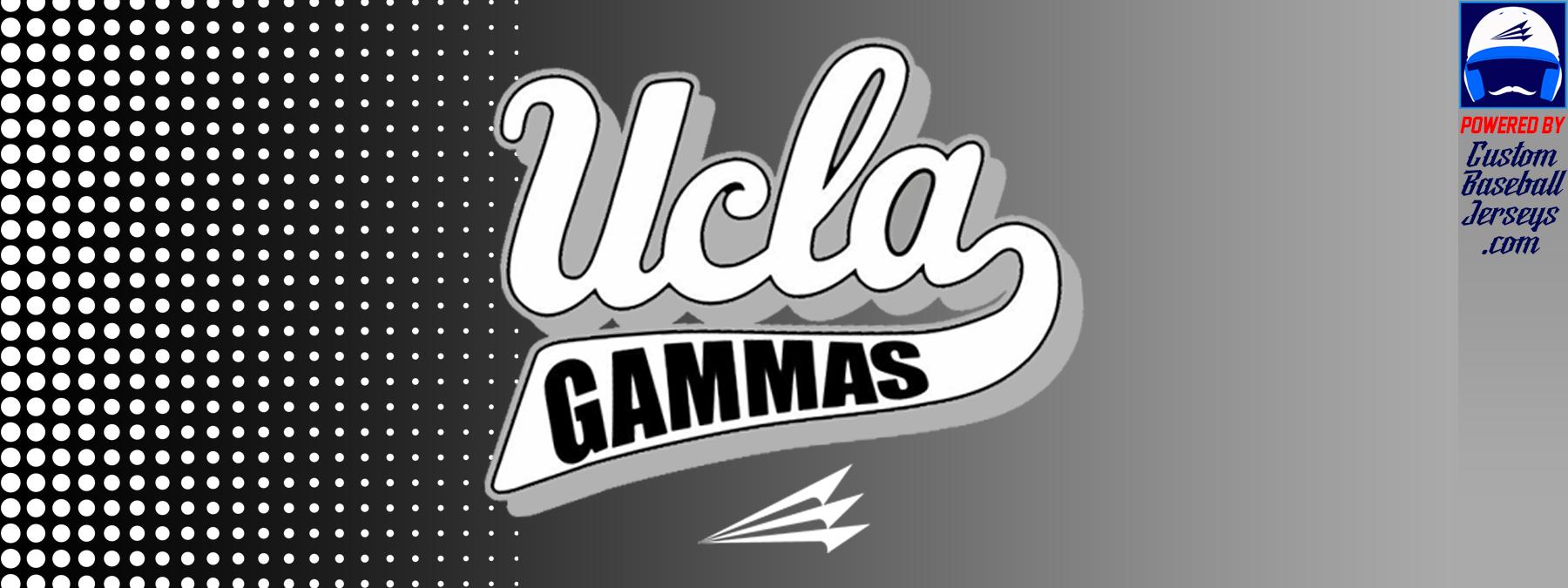 new styles b0e62 2ce80 UCLA Gammas Custom Throwback Baseball Jerseys - Custom ...
