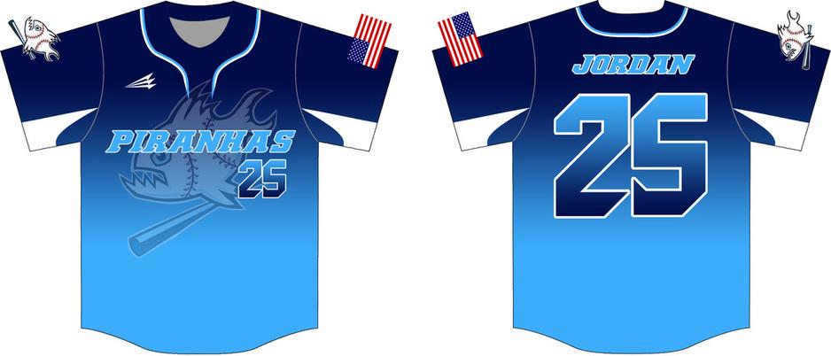online store 06cf5 9489f Piranhas Custom 2017 Baseball Jerseys - Custom Baseball ...
