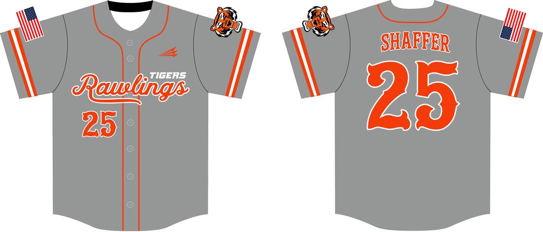 best service e21dd 41d99 Rawlings Tigers Custom Traditional Baseball Jerseys - Custom ...