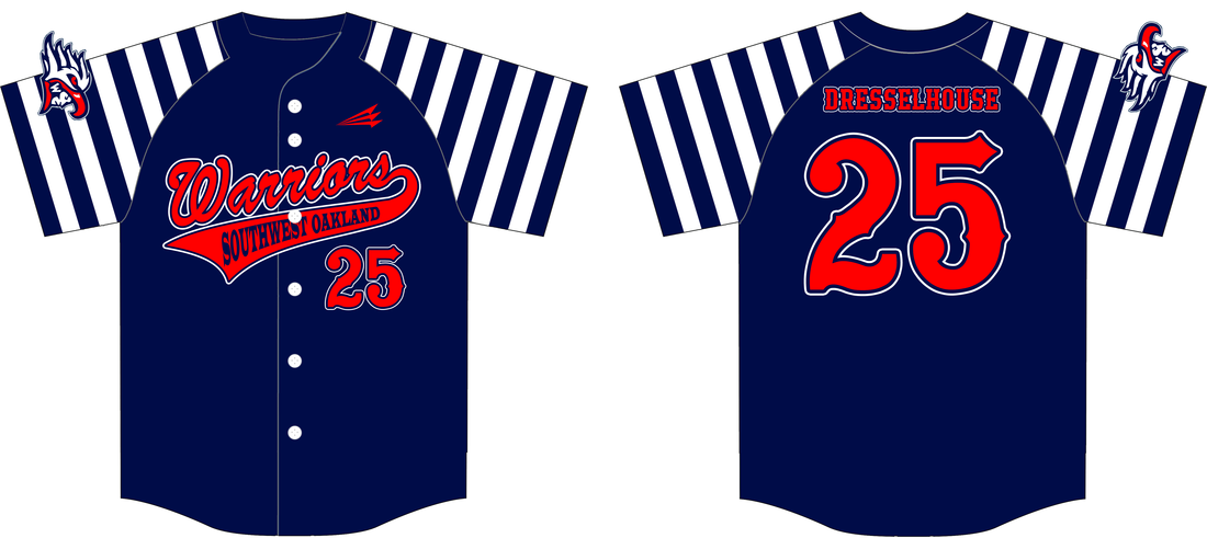 warriors baseball jersey